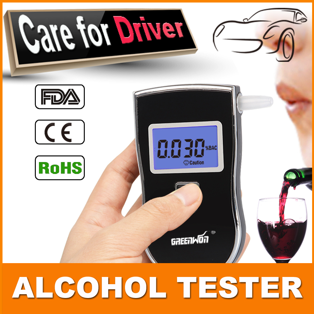 2015 Dropping wholesale Police Digital LCD Alcohol Breath Tester Breathalyzer Analyzer Detector(China (Mainland))