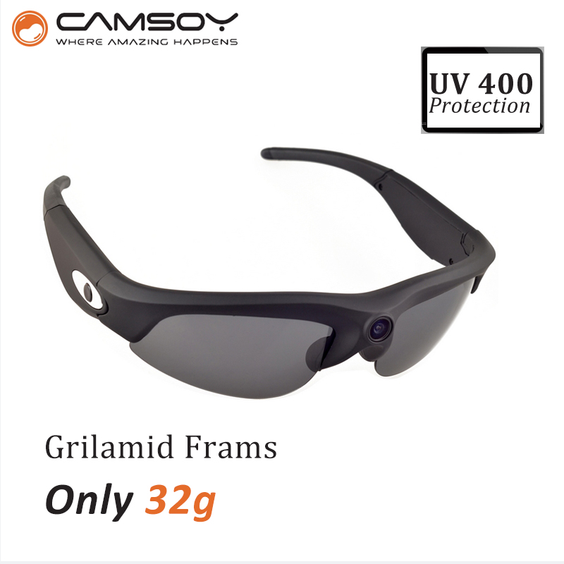 Фотография UV400 Protection 720P Waterproof HD Sunglasses Camera video camera glasses with camera Mini Camera