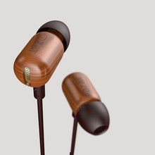 DJ Headset Pure Wood Heavy Bass Music HIFI Earbuds
