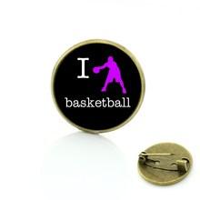 TAFREE di Marca 2017 della novità di modo Amo il Basket spille popolare lettore dei monili per le donne degli uomini casuali di sport distintivo pins SP446(China)
