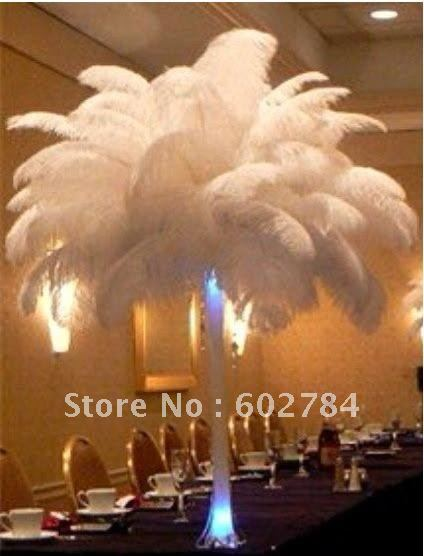 EMS Free Shipping 50pcs/lot 16-18 inches 40-45cm white ostrich drab feather ostrich plumes ostrich plumage(China (Mainland))