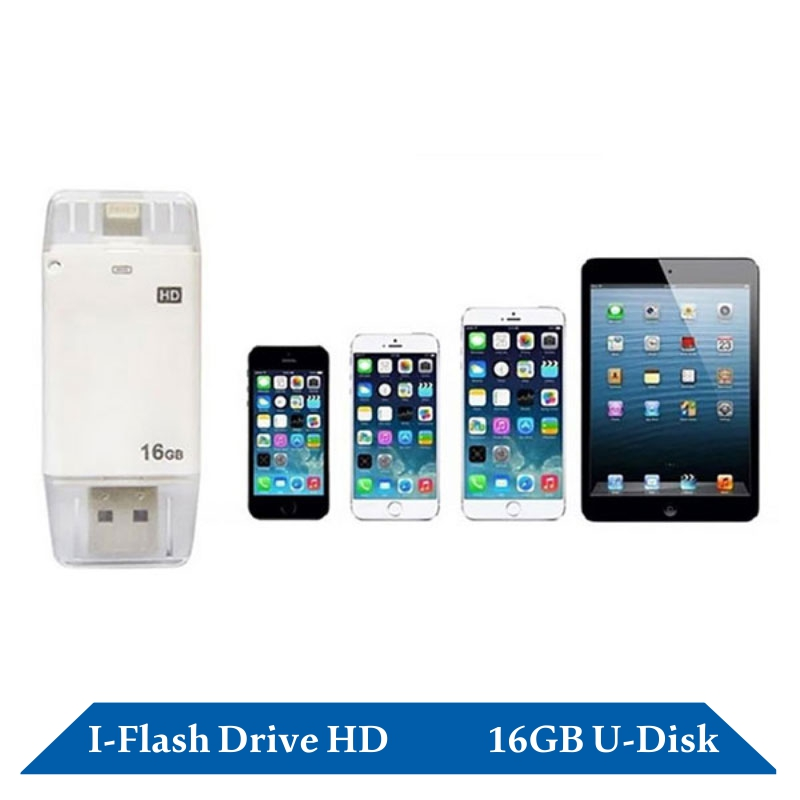 Free shipping ! 16G USB OTG i-Flash Drive HD and 8-64G iFlash Drive to choose for ios device iphone ipad itouch