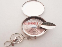 700pcs/lot Free Shipping Wholesale Pocket Stainless Steel Portable Round Cigarette Ashtray With Keychain (China (Mainland))