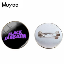 2018 New Rock Band Black Sabbath Paranoico Illustrazioni Spilla Pins Black Sabbath Logo Spille Vintage Mano craft Pin Gioielli(China)