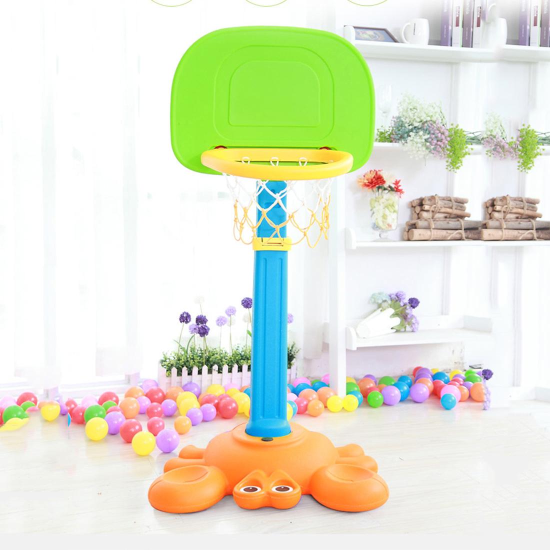 Kids Height Adjustable Portable Basketball Toy Basketball Hoop with A Ball Magic Shot Random Color(China (Mainland))