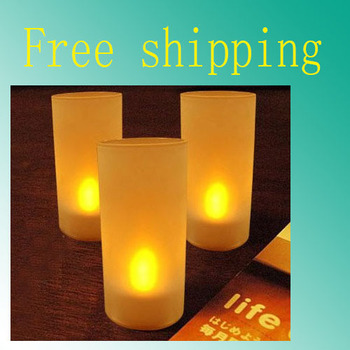 Free Shipping 10Pcs/Lot LED Electronic Single Color Candle Sensor Light Candleligh For Christmas Party Wedding Wholesale/Retail