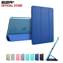Case for iPad Mini 4, ESR PU Color Ultra Slim Light weight Translucent PC Back Smart Cover Case for iPad Mini 4 (2015 Release)(China (Mainland))