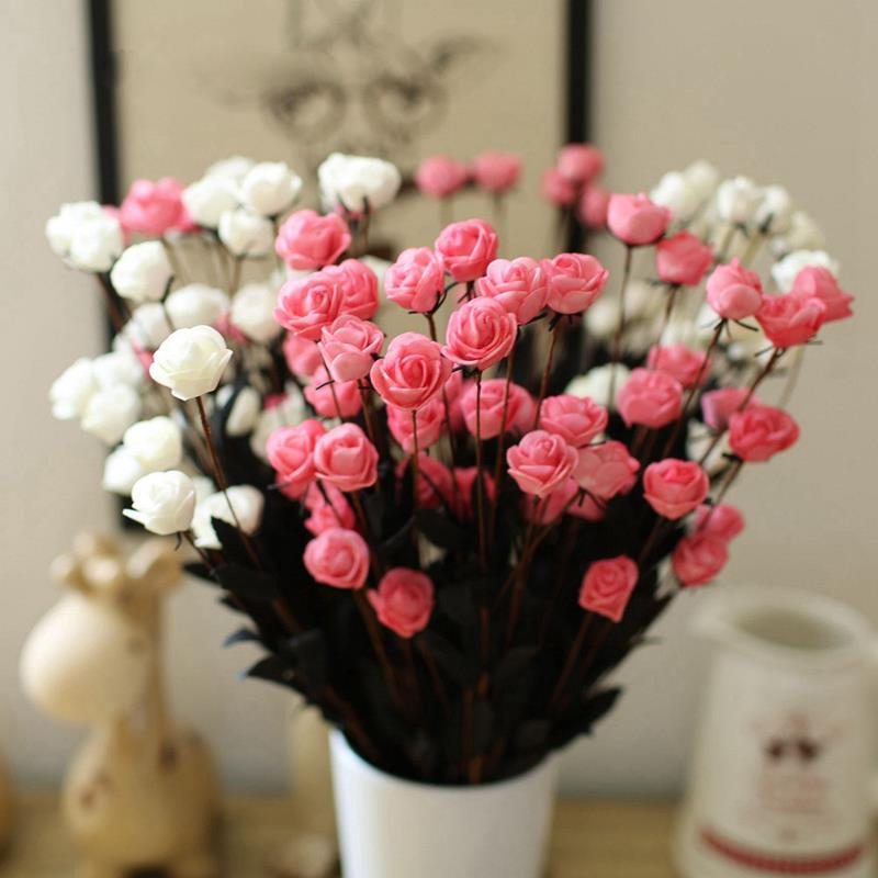 1 bouquet 15 heads artificial flower simulation rose fake for Artificial flowers for wedding decoration