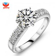 มีใบรับรองของระบุ! 100%เงินแท้925แหวนแต่งงานสำหรับผู้หญิงหรูหรา0.75กะรัตเพชรCZแหวนหมั้นZP68