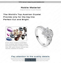 Hot Selling Fashion 18K Rose Gold Plate Pave Austrian Crystals Flower Engagement Rings Wedding Jewelry anillos