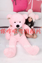 Wholesale bear enclosure Teddy Bear Fur shell plush toy 160cm birthday Valentine's Day gift color pink free shipping
