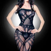 Sexy Fishnet Crotchless Stocking Suspender Body stocking Lingerie Babydoll