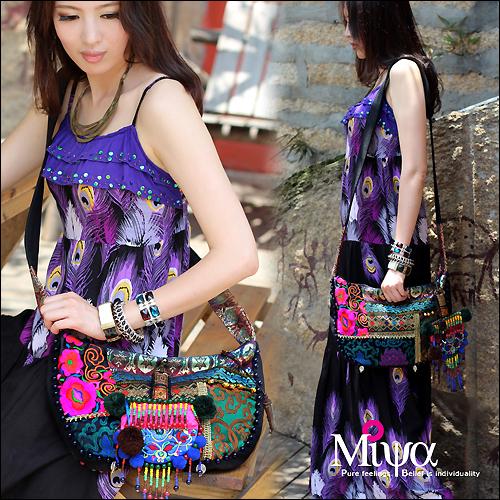 [LYNETTE'S CHINOISERIE- Miya ] National wind embroidery trend india small bag messenger bag canvas bag national women's handbag(China (Mainland))