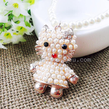 Fashion Pearl Necklace Jewlery Cute Cat Long Necklace Statement Necklace For Women Popular Dorp Necklace Accessory