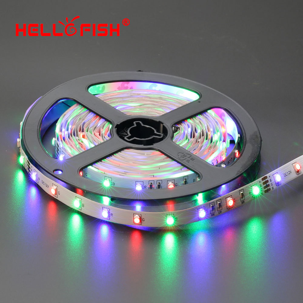 Hello Fish 5m 300 LED 3528 SMD LED strip, 12V flexible light 60 led/m LED tape,RGB/ white/warm white/blue/green/red/yellow(China (Mainland))