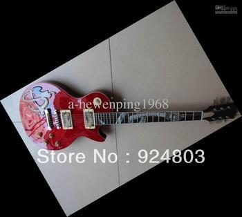 2012 3D custom shop slash electric guitar red snake abalone inlay Three-dimension12 03 26