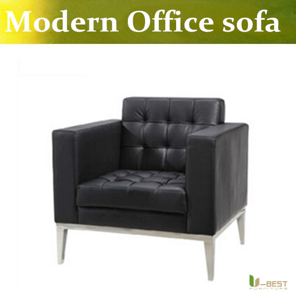 U-BEST high quality real leather reception office sofa, comfortable office sofa chair,Office Sofa Furniture single armchair(China (Mainland))