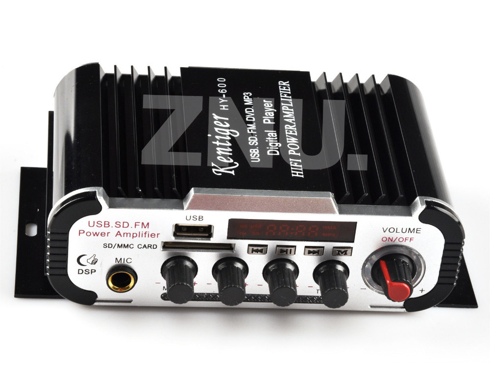 FM Audio +MIC + MP3 Speaker HiFi Mini Amplifier AMP Suit For Car Motorcycle Home Microphone Jack(China (Mainland))