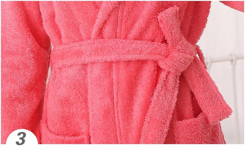 100% cotton hooded bathrobe cotton bathrobe thickening terry women cotton robe