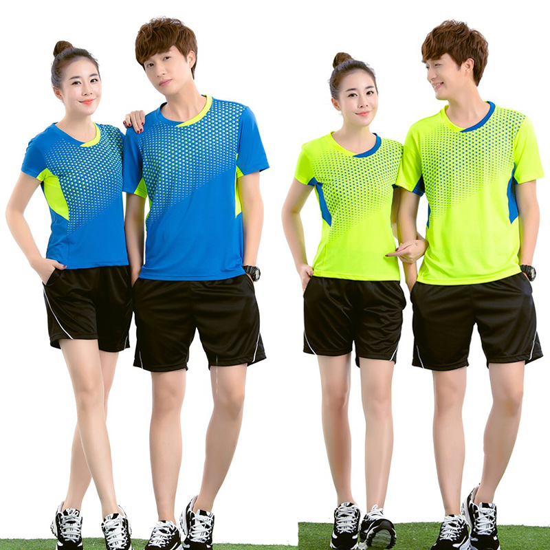 No logos Badminton Team Jersey Male/Female , Tennis clothes ,Table Tennis Uniforms , Design for your own Team Personalise logos(China (Mainland))
