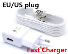 100% Original Adaptive Fast Charging 5V2A US EU Plug Travel Charger + 1.5M Micro Usb Data Cable For Samsung Galaxy S6 Edge Note4(China (Mainland))