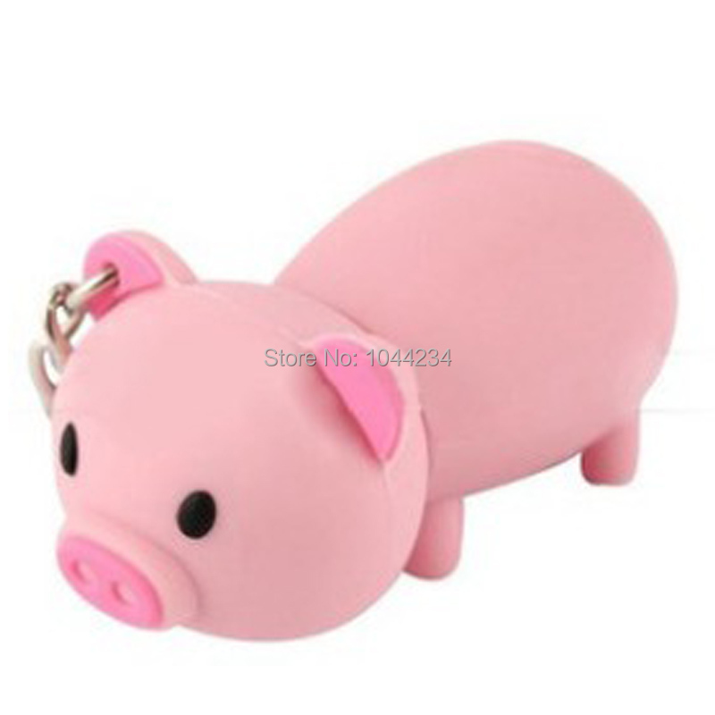 high quality 100% real Cute pink pig pen drive usb flash drive 8GB pendrive card u disk memory stick thumb pen drives(China (Mainland))