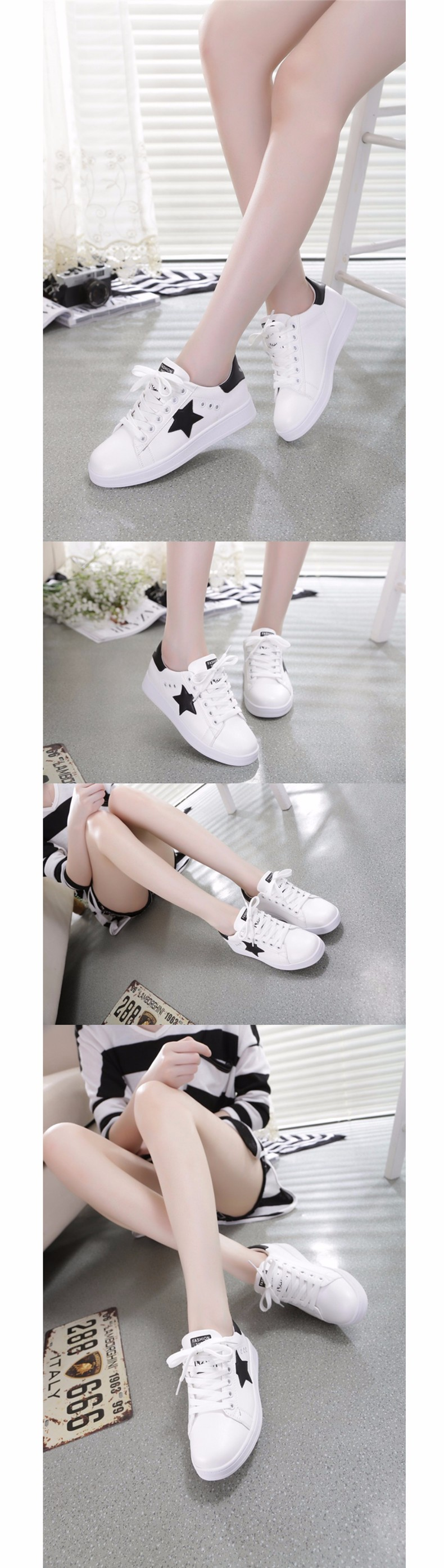 2016 New Spring Summer Ladies Casual Flat Shoes Women's White Basket Femme Sapatos Femininos