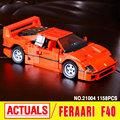 LEPIN 21004 Ferrarie F40 Sports Car Model Building Blocks Kits Bricks Toys Compatible with 10248