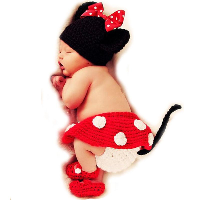 Kawaii Crochet Baby Photography Props Handmade Knitted Newborn Photos Hat Shoes Skirt Kids Cap Girls Cute Bow Baby Accessories(China (Mainland))