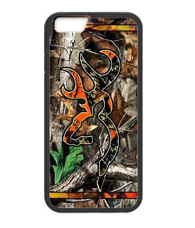 Camo Browning Deer Logo cover case for iPhone 4 4S 5 5S SE 5C 6 6S Plus(China (Mainland))