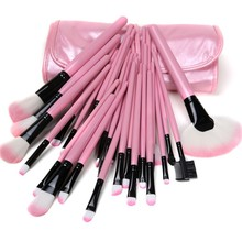 32pcs Professional Makeup Brush Set Tools Make-up Toiletry Kit Wool Brand Make Up Brush Set Case Cosmetic Brush Free Shipping(China (Mainland))