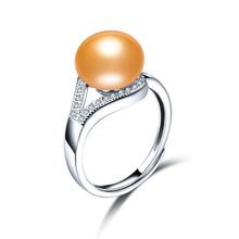 2019 новые модные жемчужные ювелирные изделия роскошные кольца 100% подлинное натуральное пресноводное жемчужное регулируемое кольцо для под...(China)