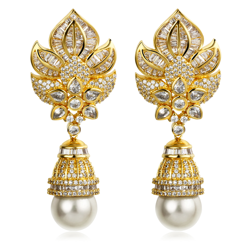 Brilliant Gold Earring Designs Cz Womens Huggies Earrings Jewelry Fashion Gold