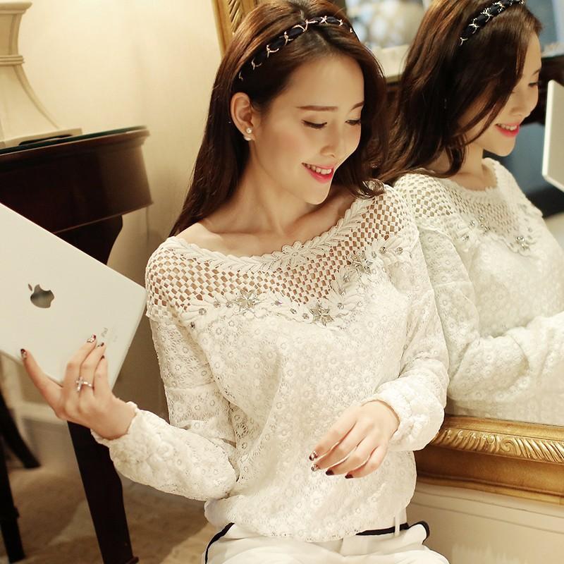 New-2014-fashion-women-lac1-blouse-femininas-blusas-feminina-camisas-renda-roupas-Hollow-Out-blouses
