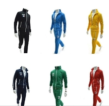 2014 spring new European style light-colored sport cardigan  SportsWear men long-sleeve tracksuit sport suits jacket(China (Mainland))