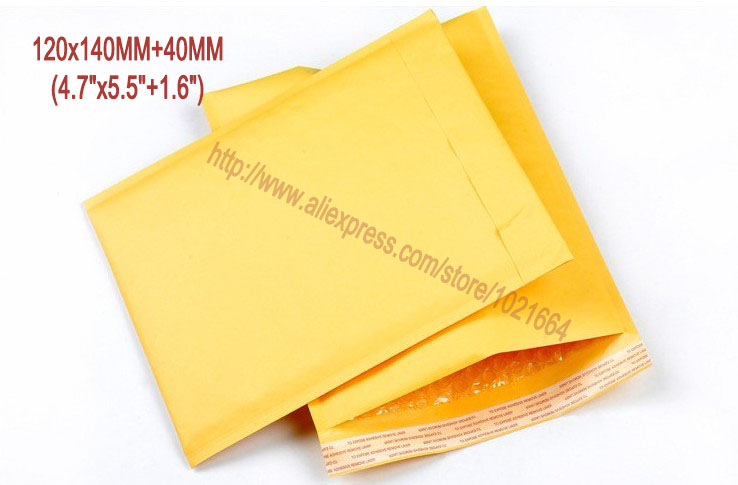 produto 20pcs/lot 120MMx140MM 4.7\x5.5\ Kraft Mailer Bubble Padded Envelopes Bags Kraft Bubble Mail Mailing Express Bag