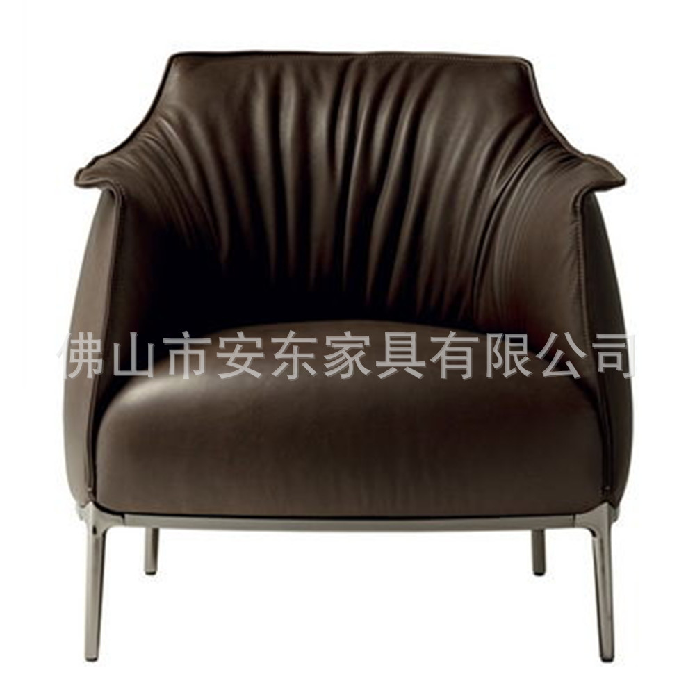 single sofa chair leisure pu leather peas can be customized leather