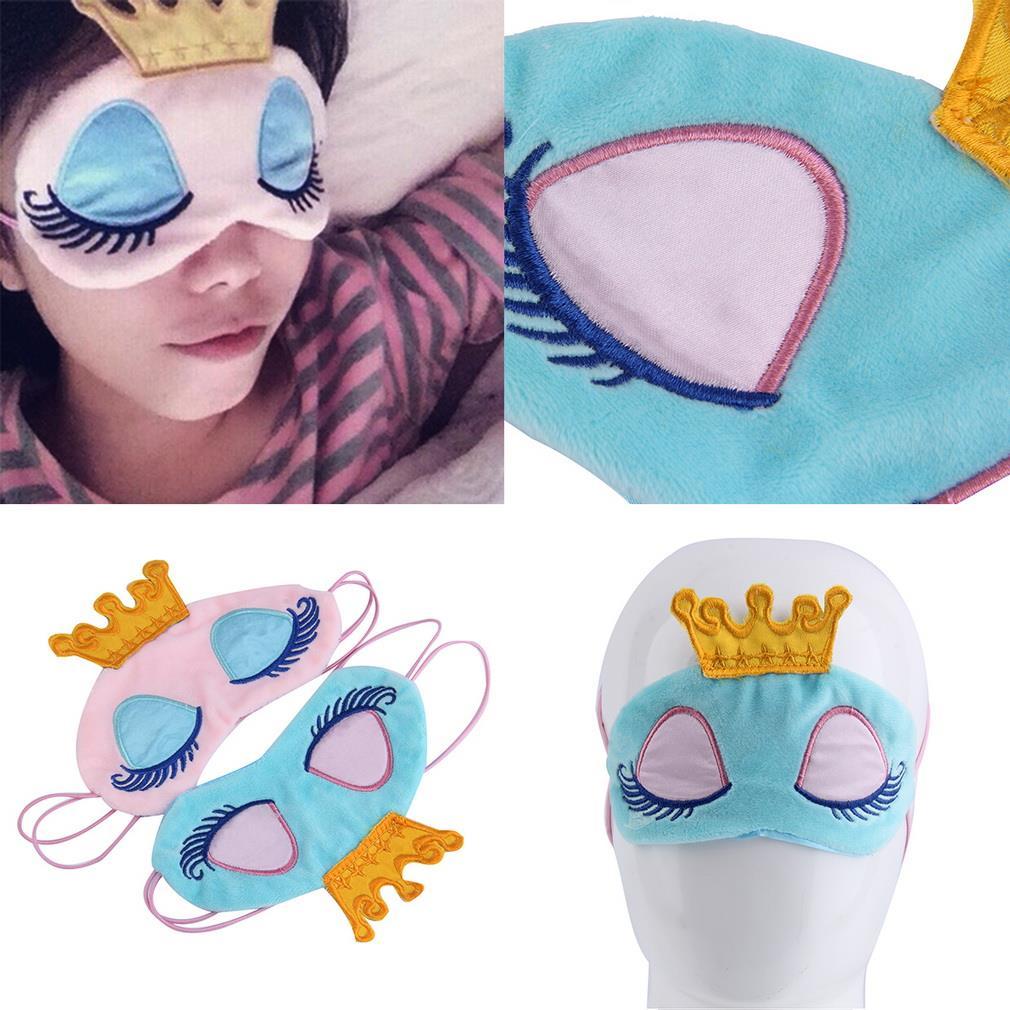 100% New eyes braces Sleeping Eye Mask Eyeshade Nap Eye Shade Cartoon Blindfold Sleep Eyes Cover Sleeping Travel Rest(China (Mainland))