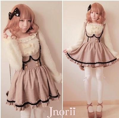Здесь можно купить  Princess sweet lolita skirt BOBON21 bobon exclusive original design palace coffee shoulder-straps B0954 plaid lace Braces skirt  Одежда и аксессуары