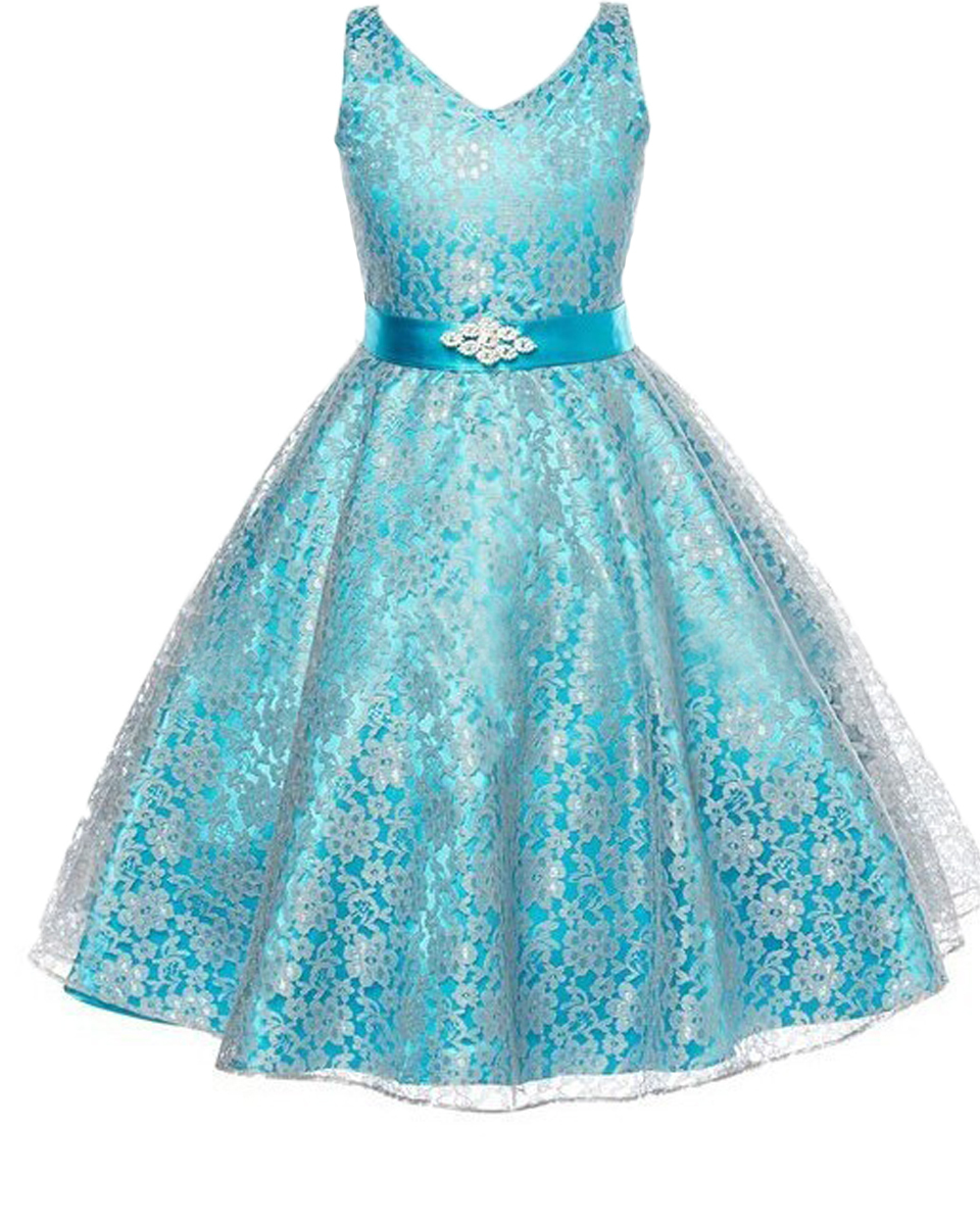 Sleeveless A-line V-neck Crystal Ribbon Lace Overlay Gorgeous Sheer Organza Flower Girl Dress with Scattered Lace Floral(China (Mainland))