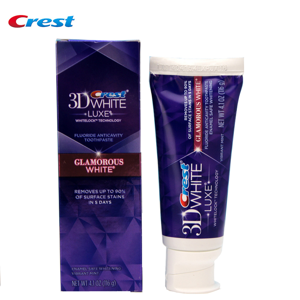 Crest 3d LUXE White Glamorous White Toothpaste Dental Toothpaste Whitening Toothpaste Oral Hygiene Dentifrice Teeth Whitening
