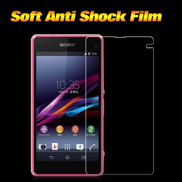 Premium TPU Anti-shock Screen Protector for Sony Xperia Z1 mini Anti shock Screen Protector for Xperia Z1 Compact TPU Film 3pcs(China (Mainland))