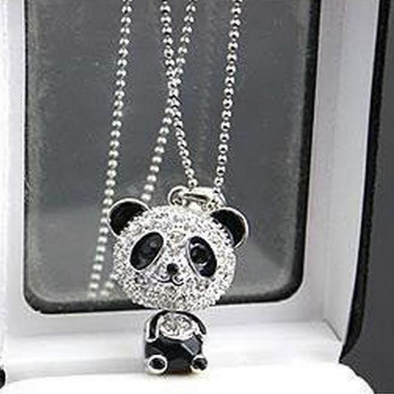 Гаджет  N012 Full of crystals panda pendant necklaces for women jewelry wholesale charm  B3.7 None Ювелирные изделия и часы