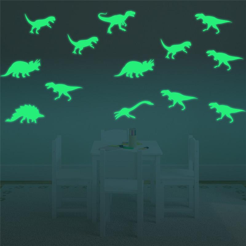 9 шт./компл. светится в темноте динозавры игрушки наклейки Наклейка на потолок undefined