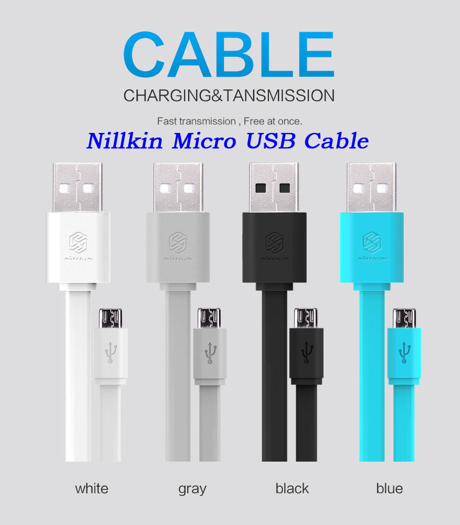 Best Seller# Nillkin Universal Flat Micro USB 2.0 Quick Charge Cable Data Cable 120cm 5V 2A For Sony LG HTC Xiaomi HUAWEI Lenovo(China (Mainland))