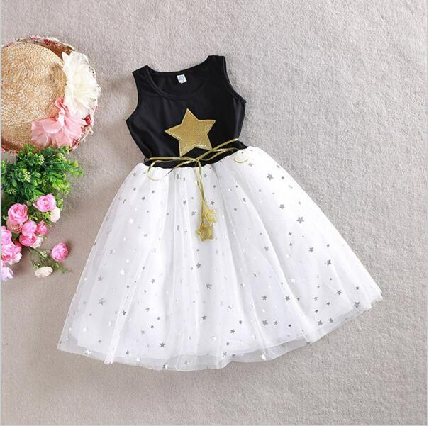 Girls Dress 2016 Summer 2-12T Sequin Dresses For Girl Kids Clothes Cotton Children's Clothing Christmas dress Party Costume(China (Mainland))