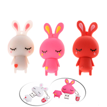 Buy Cartoon rabbit 128GB USB Flash Drive USB2.0 Pendrive model 8GB 16GB 32GB 64GB 4GB Pen Drive Memory Flash disk 32 gb usb gift for $1.99 in AliExpress store