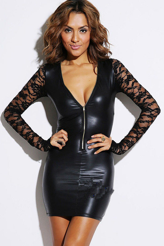 Each of our leather dresses is made from highest quality, cured leather that feels soft and supple to the touch. We have leather dresses in brown, white, black and many other colors. We feature leather dresses in close fitting styles, and in styles more suitable for larger figures.