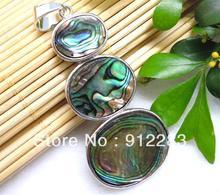 Free Shipping  Hot Sale 10pcs 58*27mm Treble Oval Abalone Metal With Rhinestone Necklace Pendants,Fashion Pendants(China (Mainland))