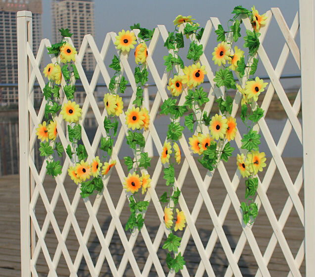230cm/pcs Middle size artificial sunflower fake flower wisteria home hotel market decorations 4pcs/lot AH3-523(China (Mainland))